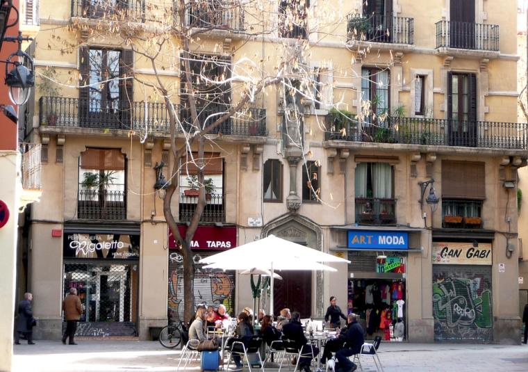 street scene Barcelona